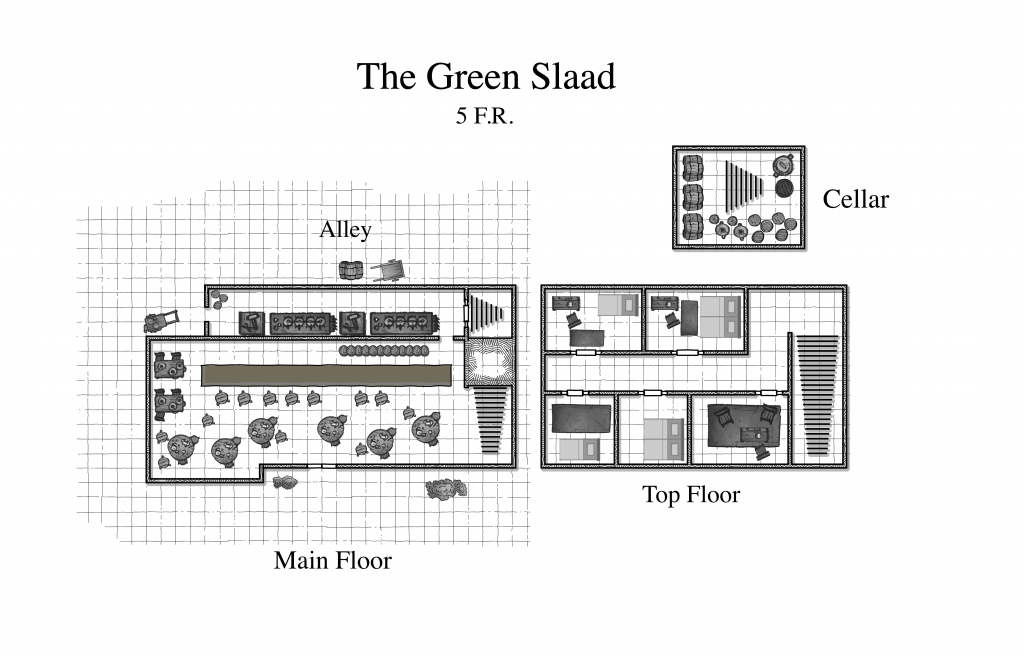 Green Slaad: A Tavern For Dungeons & Dragons