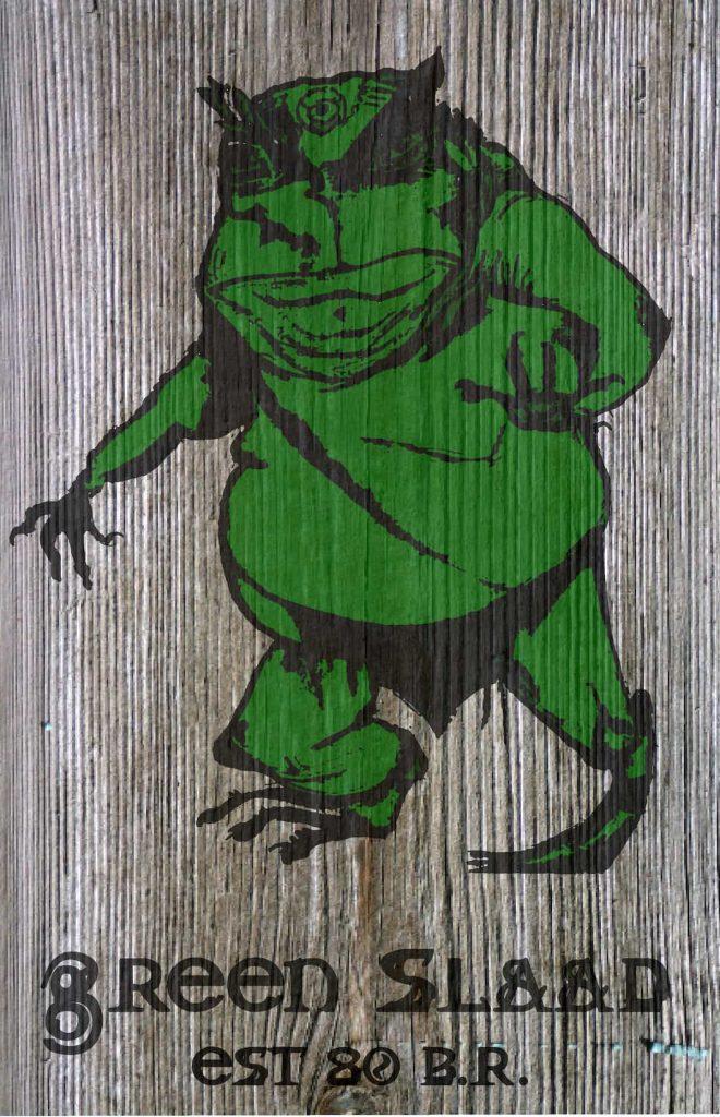 The Green Slaad Tavern Sign